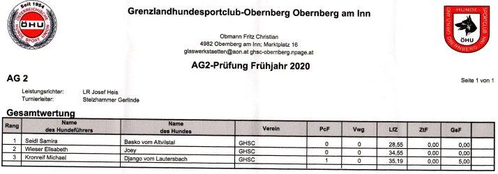 AG 2 prüfung